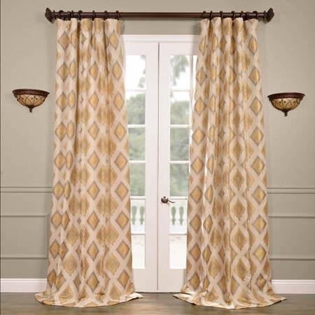 Dahl Multi Faux Silk Jacquard Curtain