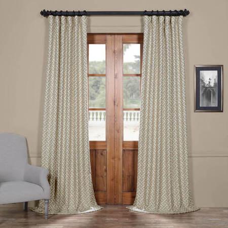 Zeus Stone Faux Silk Jacquard Curtain