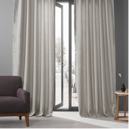 Fresh Khaki French Linen Curtain