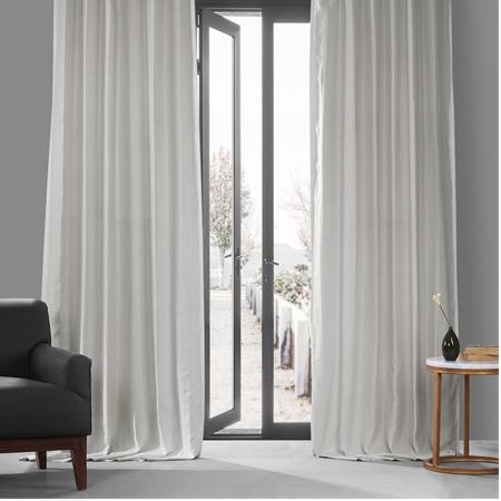 Crisp White French Linen Curtain