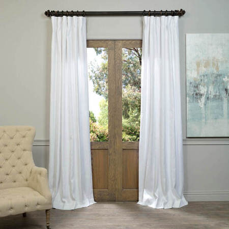 White French Linen Curtain