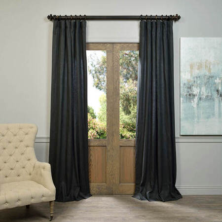 Charcoal French Linen Curtain