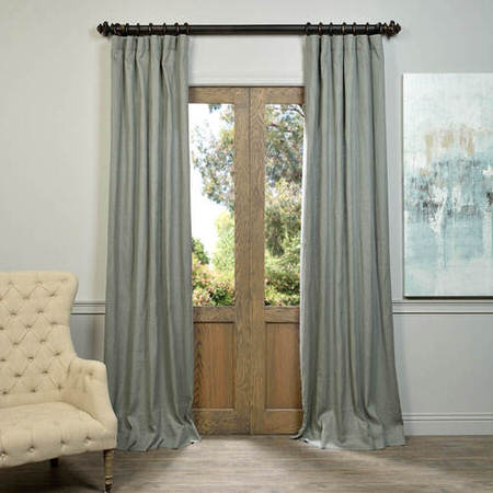 Grey French Linen Curtain