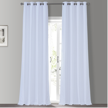 Ice Grommet Blackout Vintage Textured Faux Dupioni Silk Curtain