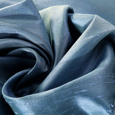 Provencial Blue Vintage Faux Textured Dupioni Silk Swatch