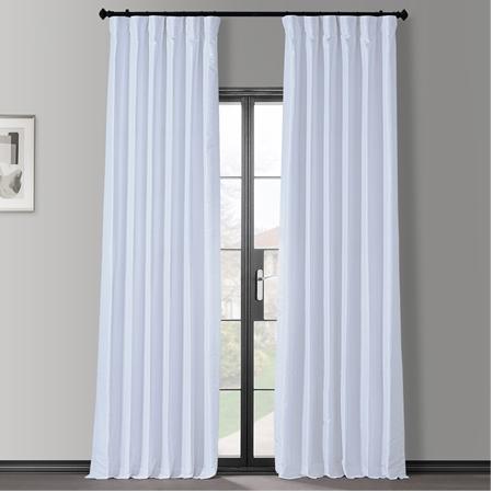 Ice Blackout Vintage Textured Faux Dupioni Curtain
