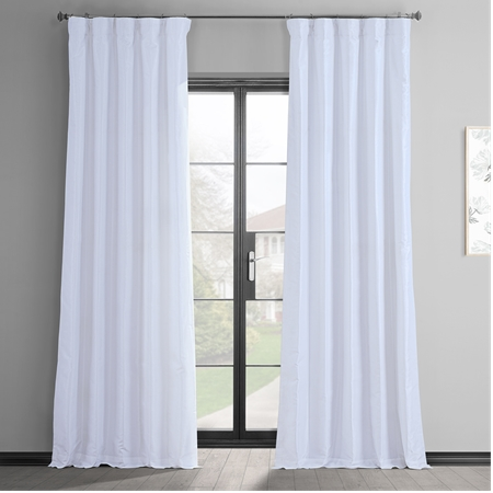 Ice Vintage Textured Faux Dupioni Silk Curtain