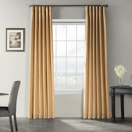 Butternut Vintage Textured Faux Dupioni Silk Curtain