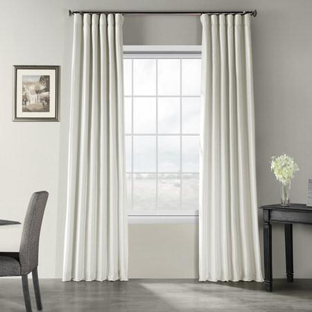 Mist Grey Vintage Textured Faux Dupioni Silk Curtain