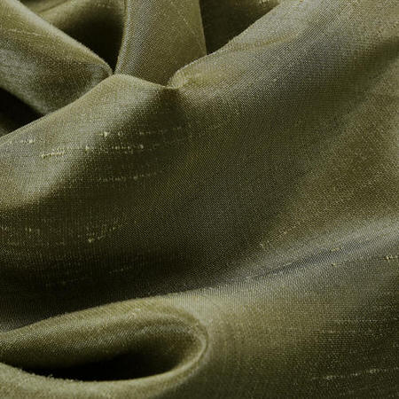 Oregano Green Vintage Textured Faux Dupioni Silk Swatch