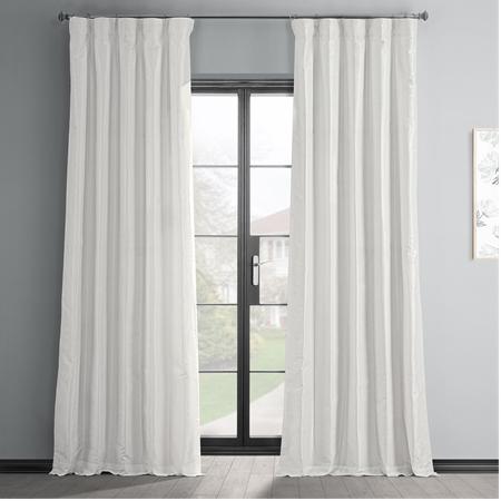 Off White Vintage Textured Faux Dupioni Silk Curtain