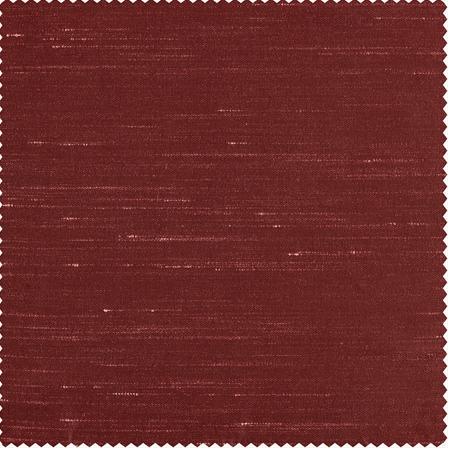 Ruby Faux Textured Dupioni Silk Swatch