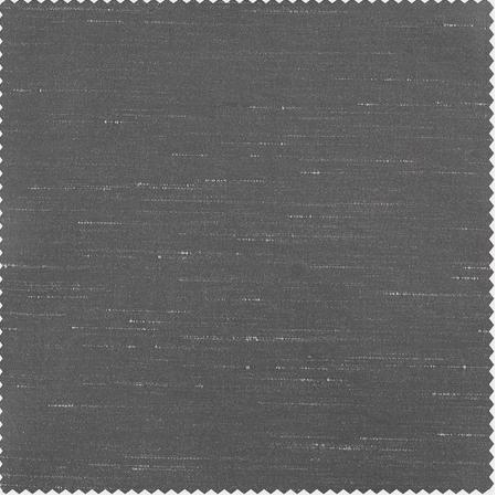 Storm Grey Faux Textured Dupioni Silk Swatch