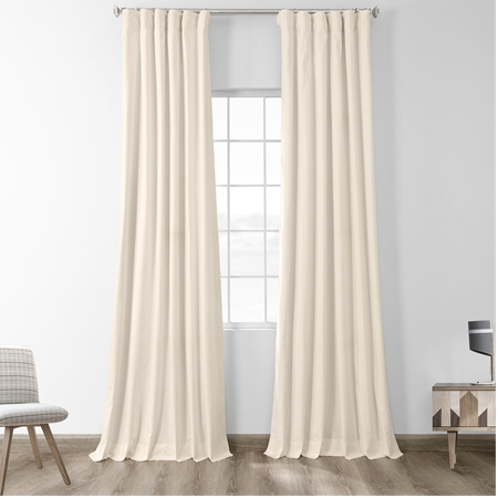 Fresh Popcorn Solid Cotton Blackout Curtain