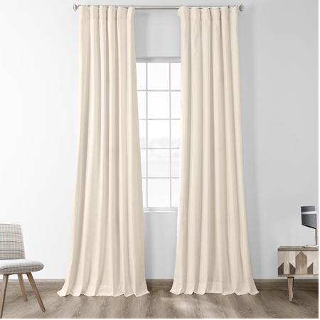 Fresh Popcorn Solid Cotton Blackout Curtain