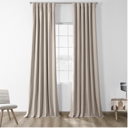 Hazelwood Beige Solid Cotton Blackout Curtain