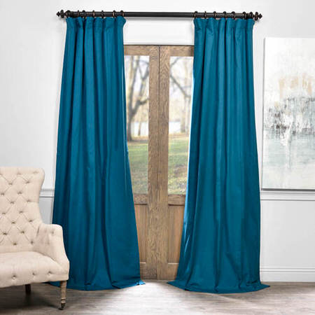Caribbean Current Solid Cotton Blackout Curtain