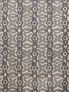 Santiago Gray Printed Cotton Swatch