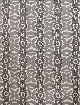 Santiago Gray Printed Cotton Swatch