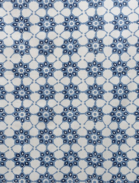 Ashby Blue Printed Cotton Swatch