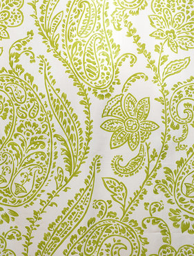 Paisley Green Printed Cotton Swatch