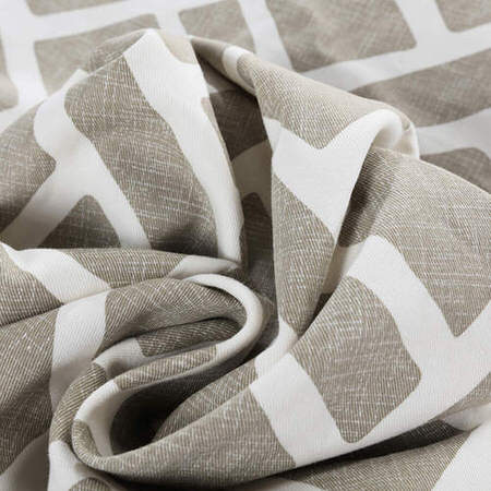 Martinique Taupe Printed Cotton Swatch