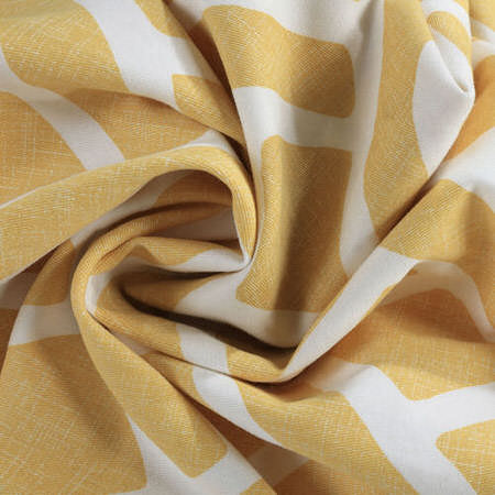 Martinique Yellow Printed Cotton Swatch