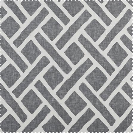 Martinique Grey Printed Cotton Swatch