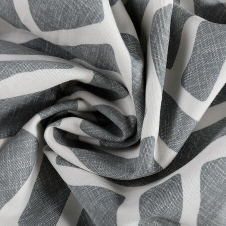 Martinique Grey Printed Cotton Swatch