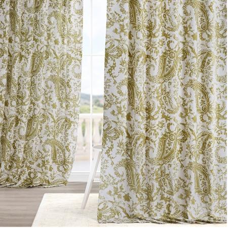 Edina Green Printed Cotton Curtain