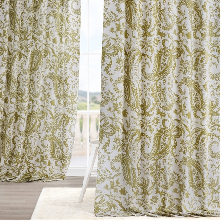 Edina Green Printed Cotton Curtain