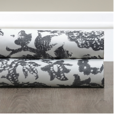 Edina Grey Printed Cotton Swatch