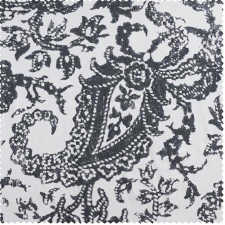 Edina Grey Printed Cotton Swatch
