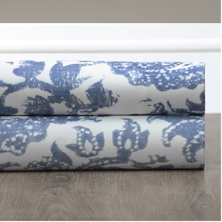 Edina Blue Printed Cotton Swatch