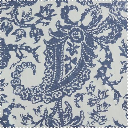 Edina Blue Printed Cotton Swatch