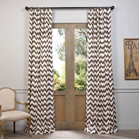 Calipso Brown Printed Cotton Curtain