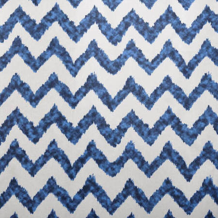 Calipso Blue Printed Cotton Swatch