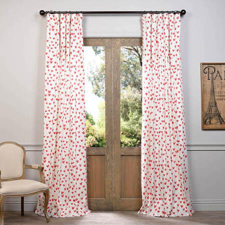 Sweethearts Printed Cotton Curtain