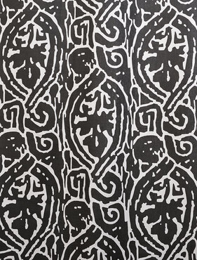 Zambia Ebony Printed Cotton Swatch