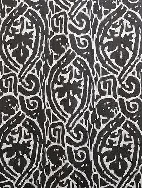 Zambia Ebony Printed Cotton Swatch