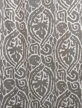 Zambia Gray Printed Cotton Swatch