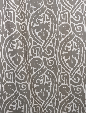 Zambia Gray Printed Cotton Swatch
