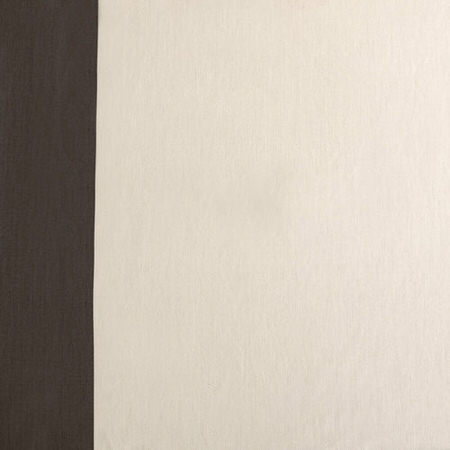 Fresh Popcorn and Millstone Grey Horizontal Colorblock Panama Swatch