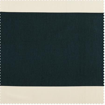 Dusk Blue & Off White Horizontal Stripe Swatch