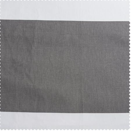 Slate Grey & Off White Horizontal Stripe Swatch