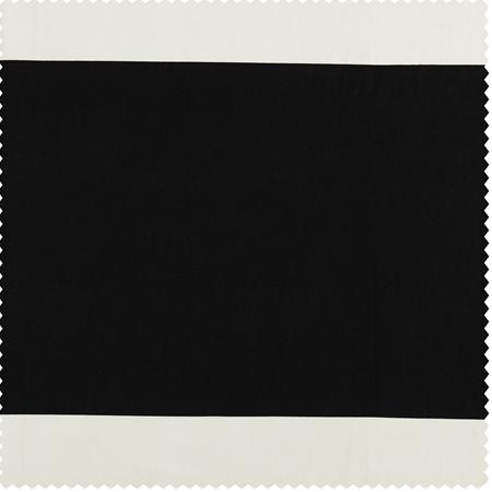 Onyx Black & Off  White Horizontal Stripe Swatch