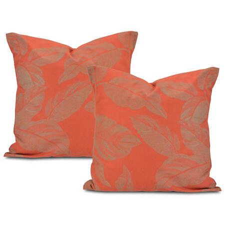 Bali Red Printed Cotton Cushion Cover (Pair)