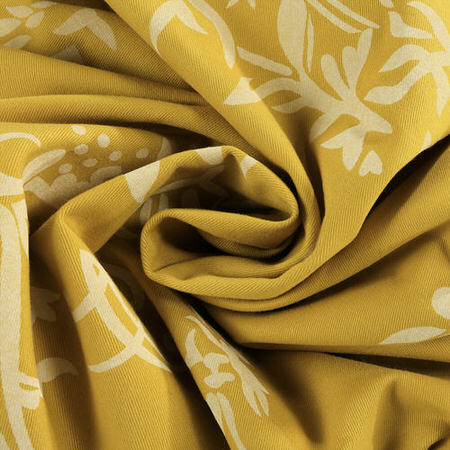 Isles Mustard Printed Cotton Swatch