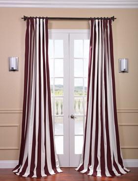Cabana Burgundy Printed Cotton Curtain