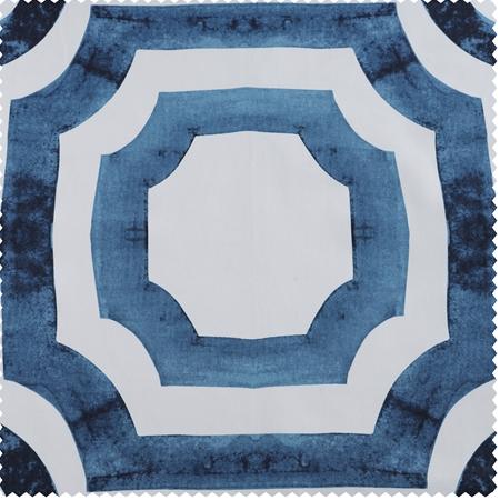 Mecca Blue Printed Cotton Swatch